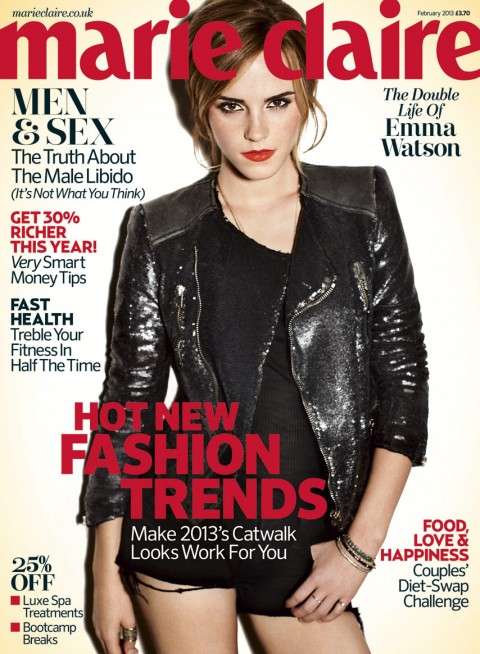 Emma Watson for Marie Claire - February 2013- UK