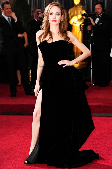 Angelina Jolie - most iconic red carpet dresses of all time