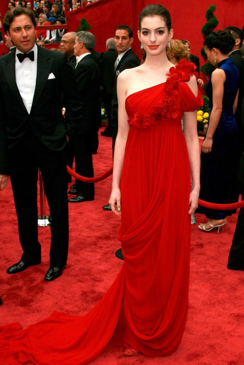 Anne Hathaway - most iconic red carpet dresses of all time