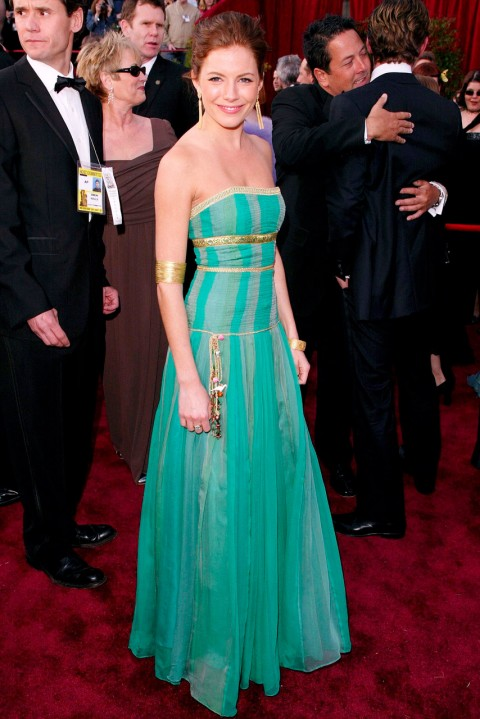 Sienna Miller - most iconic red carpet dresses of all time