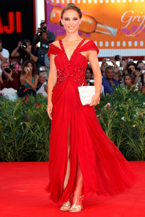 Natalie Portman - most iconic red carpet dresses of all time