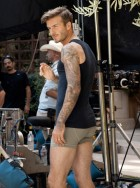 David Beckham shoots his new Bodywear at H&M film directed by Guy Ritchie