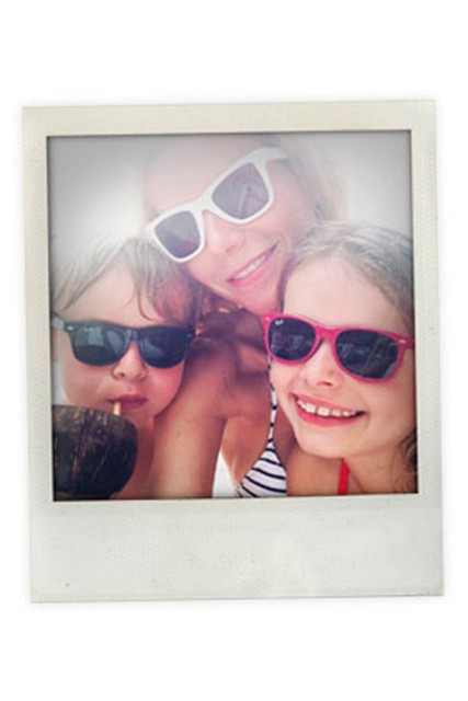 Gwyneth Paltrow and Apple and Moses on holiday in St Lucia