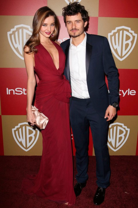 Miranda Kerr and Orlando Bloom - Golden Globe After-Parties