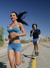 Woman-and-man-jogging