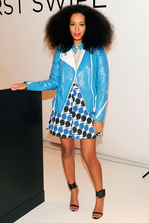Solange Knowles at a store party at Saks in New York