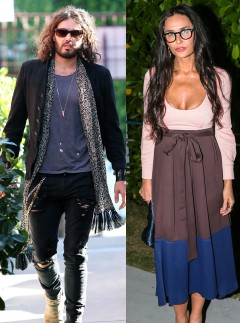 Russell Brand and Demi Moore 