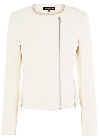 Warehouse collarless biker jacket, &pound;85