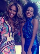 Beyonce Knowles and Solange Knowles