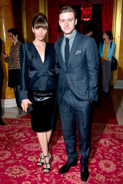 Justin Timberlake and Jessica Biel are the star guests at Tom Ford's autumn/winter 2013 show