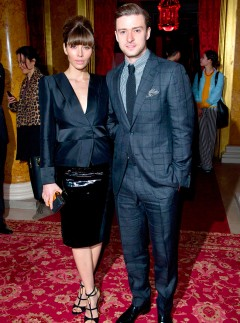 Justin Timberlake and Jessica Biel are the star guests at Tom Ford&#039;s autumn/winter 2013 show