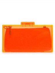 Zara orange clutch