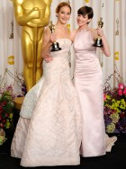 Anne Hathaway and Jennifer Lawrence - Oscars 2013