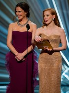 Jennifer Garner and Jessica Chastain - Oscars 2013: On-Stage Action
