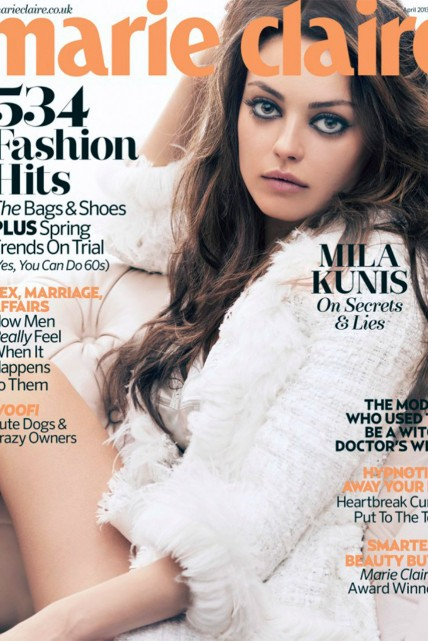 Cover Girls: Mila Kunis on Marie Claire UK April 2013