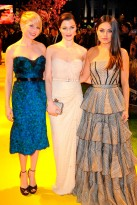 Michelle Williams, Rachel Weisz and Mila Kunis at the premiere of Oz the Great and Powerful