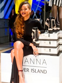 Rihanna for River Island London store launch