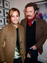 Yasmin and Simone Le Bon at Nick Rhodes' Bei Incubi exhibition in London