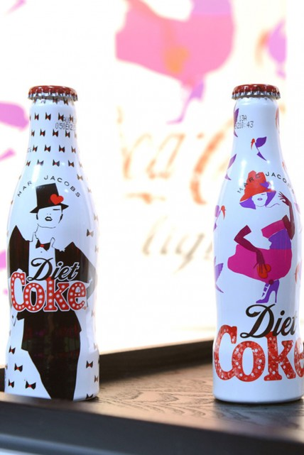 Marc Jacobs launches his Diet Coke bottles in London