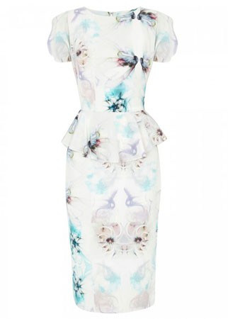 Project D printed silk dress, &pound;360 - wedding guest dresses - wedding guest outfits