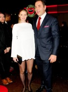 Lara Stone and David Walliams - The Book Of Mormon Opening Night