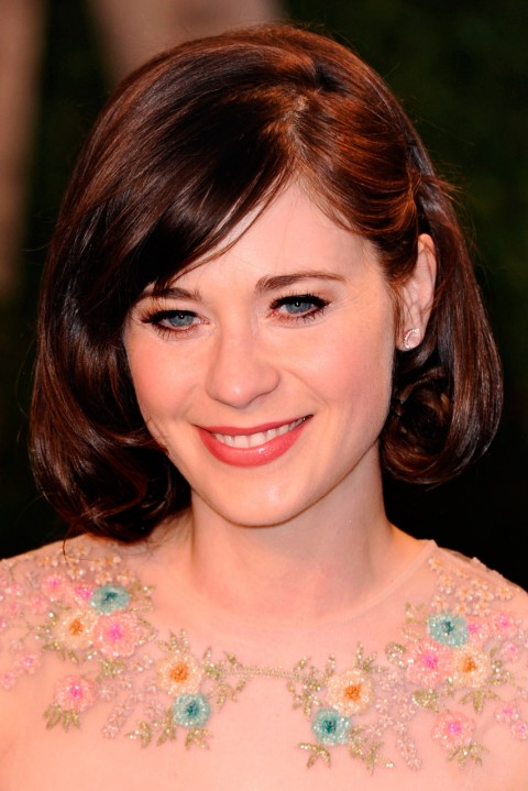 Zooey Deschanel Short Hairstyles