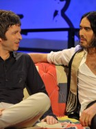 Russell Brand and Noel Gallagher