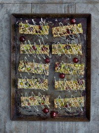 French glace cherry energy bars