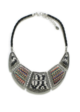 Zara Silver Plated Necklace With Ethnic Appliques, £17.99 - Festival Essentials