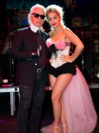 Karl Lagerfeld and Rita Ora at Bal Be La Rose Du Rocher in Monte Carlo