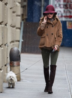Olivia Palermo out and about in snowy New York