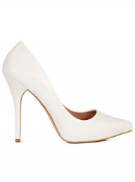 Reiss white stiletto courts