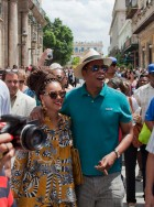 Beyonce Knowles and Jay-Z in Cuba
