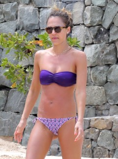 Jessica Alba On The Beach In St Barts