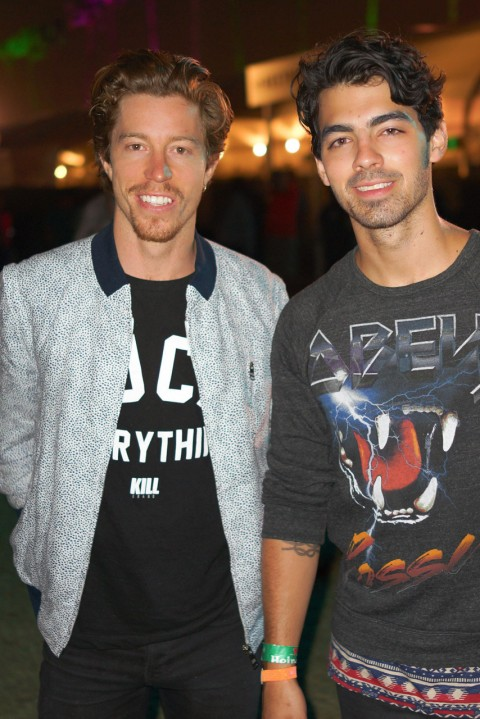 Coachella 2013 - Shaun White and Joe Jonas