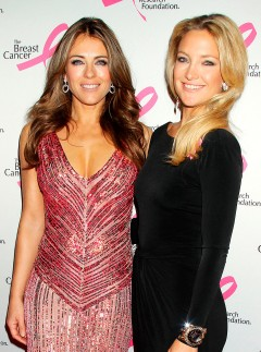 Liz Hurley and Kate Hudson at the Breast Cancer Research Foundation Hot Pink Party