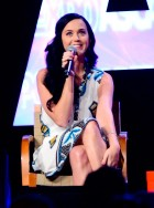Katy Perry wearing a mobile phone dress at ASCAP I Create Music Expo