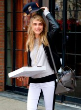 Cara Delevinge Attracts Attention In New York