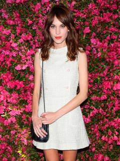 Alexa Chung attends the Chanel Artist's Dinner at the Tribeca Film Festival 2013