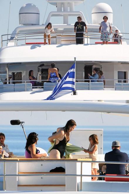 Kardashian family Greece holiday