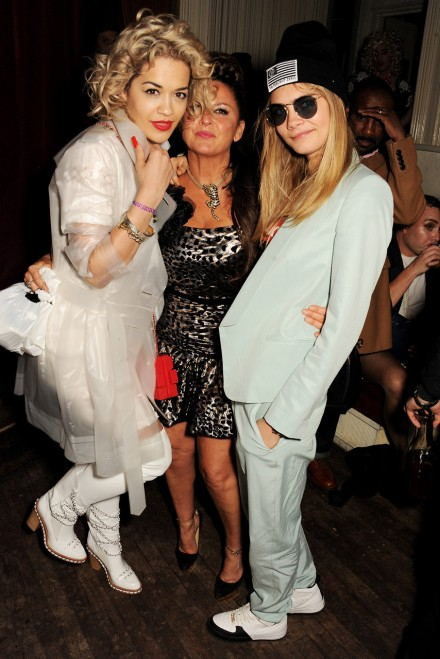 Rita Ora, Fran Cutler and Cara Delevingne