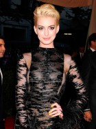 Anne Hathaway at the Met Ball with blonde hair
