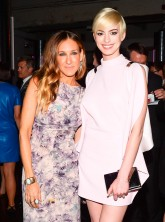 Anne Hathaway and Sarah Jessica Parker attend Tate America's Foundation Artists Dinner in New York
