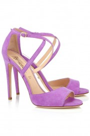 Jerome C. Rousseau Lilac Suede Popp Stilettos