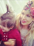 Sienna Miller and baby Marlowe
