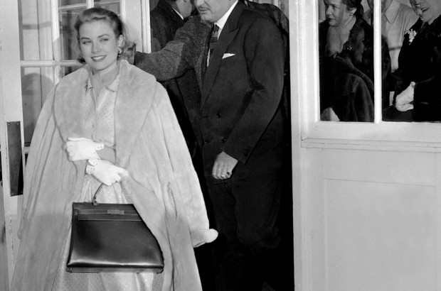 Grace Kelly with her namesake Hermes bag
