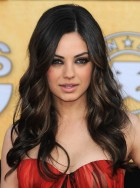 Mila Kunis with wavy hair