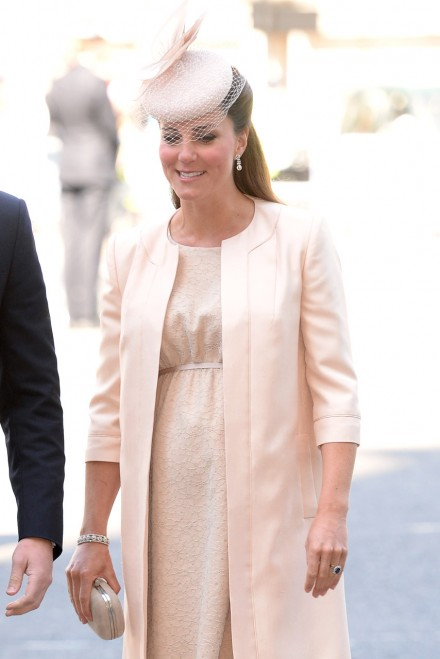Kate Middleton Dresses Baby Bump In Jenny Packham At Queen's Coronation Service