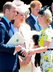 Prince William, Kate Middleton and Zara Phillips at the Queen's Coronation service