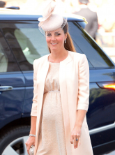 Kate Middleton at the Queen's coronation service